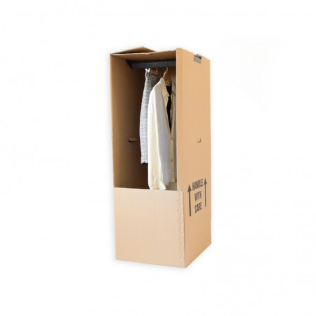 Hanging Wardrobe Carton + Rail (508mm x 457mm x 1245mm)