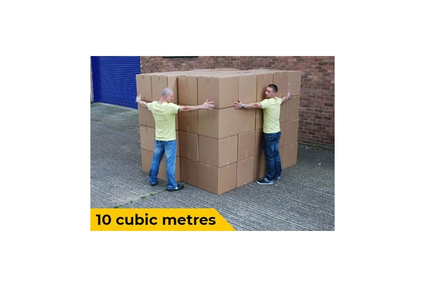 10 cubic meters visualisation for van removals
