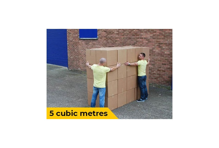 5 cubic meters visualisation for van removals