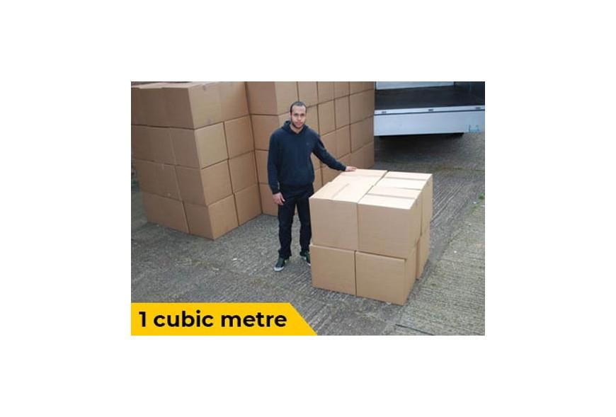 1 Cubic Meter Visualisation for van removals