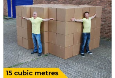 15 cubic metres visualisation for van removals