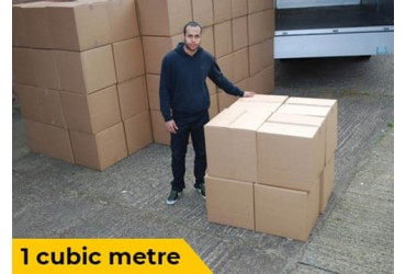 1 Cubic Meter Visualisation for van removals